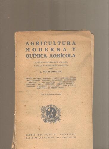 agrícultura moderna y química agrícola poch noguer