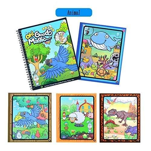 Agua Agua De Animales Libro Para Colorear Con Agua Pluma