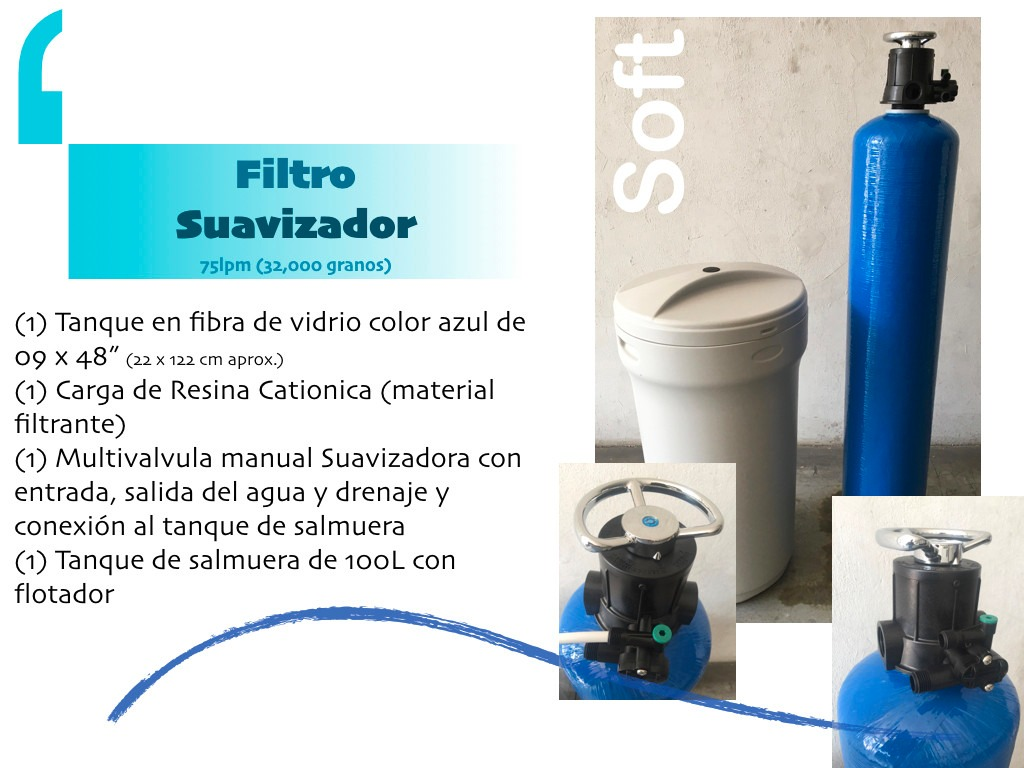 Filtro suavizador de agua 9x48 elimina sarro dureza del agua 4 en mercado libre - Filtros para grifos de agua ...