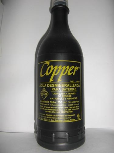 agua desmineralizada para baterías copper
