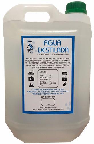 agua destilada / desmineralizada 5 litros premium