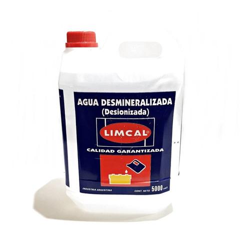 agua destilada desmineralizada (desionizada)  x 5 litros