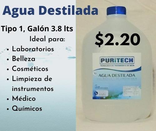 agua destilada tipo 1 galon 3.8 lts