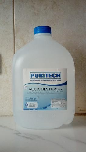 agua destilada tipo 1  .     galon 3.8 lts