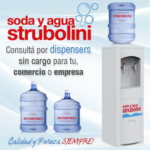 agua en bidones de 10 y 20 litros - dispensers