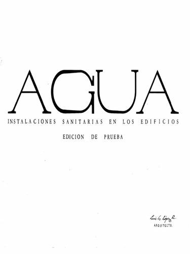 agua instalaciones sanitarias, luis lopez - libro fisico
