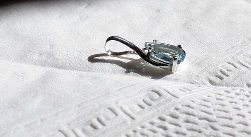água marinha coleção danças- pingente de prata