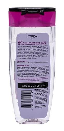 água micelar bifásica maquiagem à prova d'água l'oréal 200ml