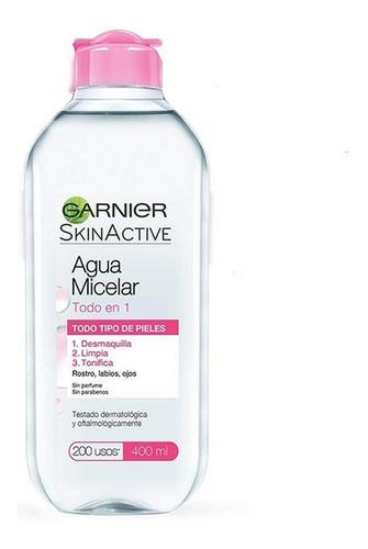 agua micelar garnier skin todo en 1  todo tipo de piel 400ml