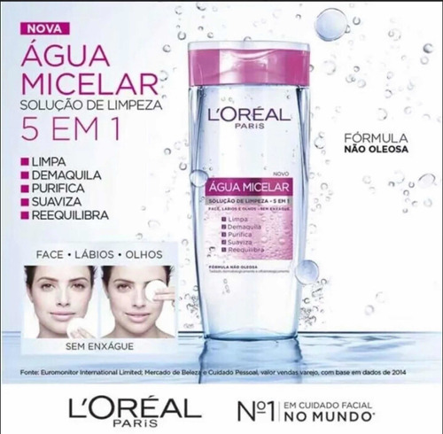 agua micelar loreal paris 5 en 1 200ml