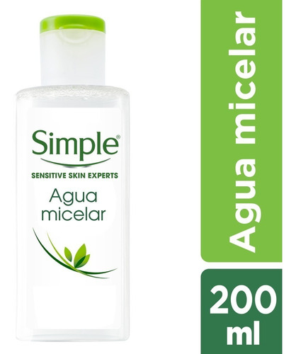 agua micelar simple micellar cleansign water 200ml unilever