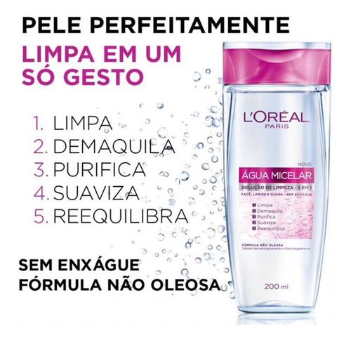 água micelar solução de limpeza 5 em 1 l'oréal paris - 400ml