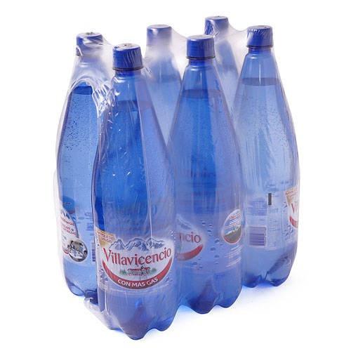 agua mineral villavicencio con gas 1.5 lts pack x 6 unidades