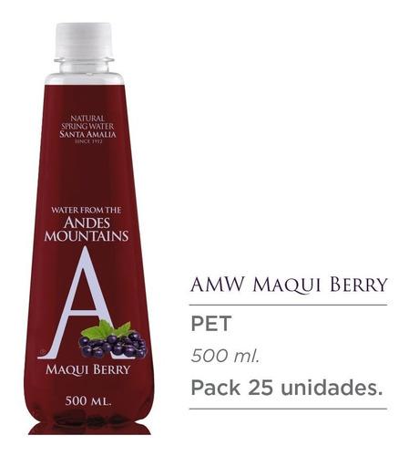 agua natural andes mountain water sabor maqui, 500 ml