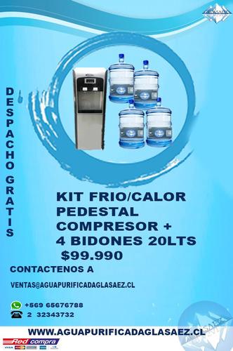 agua purificada , dispensadores en oferta domicilio incluido