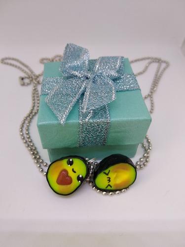 aguacates corazon kawaii pareja amigos bff caja de regalo