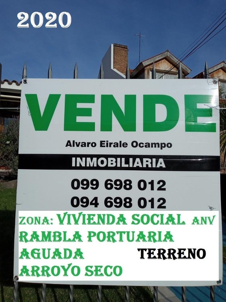 aguada: frente x 3 calles 2.800 m2* zona vis