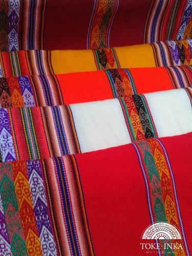 aguayo incaico peruano, manta andina, artesanias - toke inka