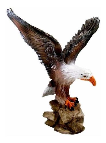 águia de resina escultura trofeu ótimo tamanho