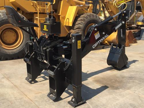 aguilon para minicargador optimal con silla op03 motorman