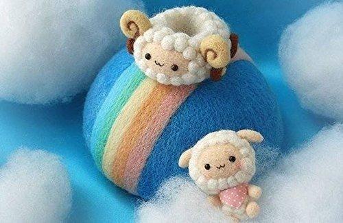 aguja loveinusa fieltro fibra de lana lana hilado para mater