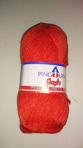 aguja tejer crochet acrilico ( 1 a elecc)  + ovillo lana (1)