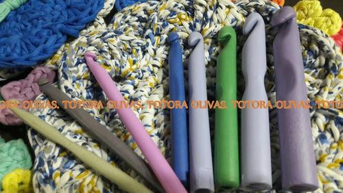 aguja totora lana crochet set 5 calidad olivas 9 10 12 14 16