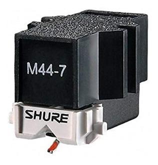 aguja y capsula shure m44-7 con porta capsula technics