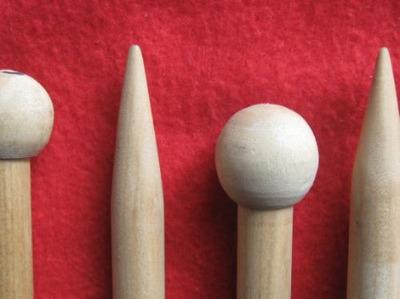 agujas de tejer n° 15 de madera