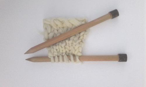 agujas de tejer n° 18 de madera