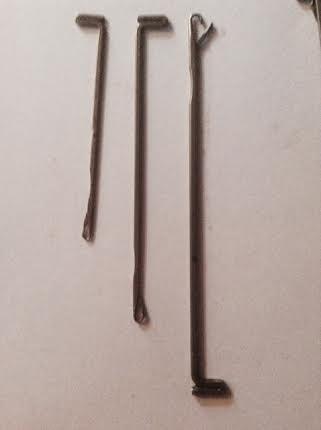 agujas knittax y diferentes tamaños industriales y de casa