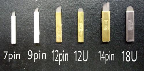 agujas microblading de 7, 9, 12, 14 y 18 pines pcd original