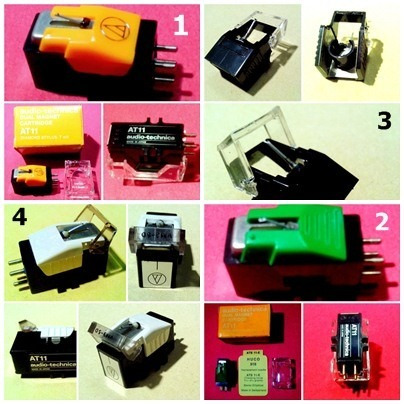 agujas y pastillas para tocadiscos marca audio technica