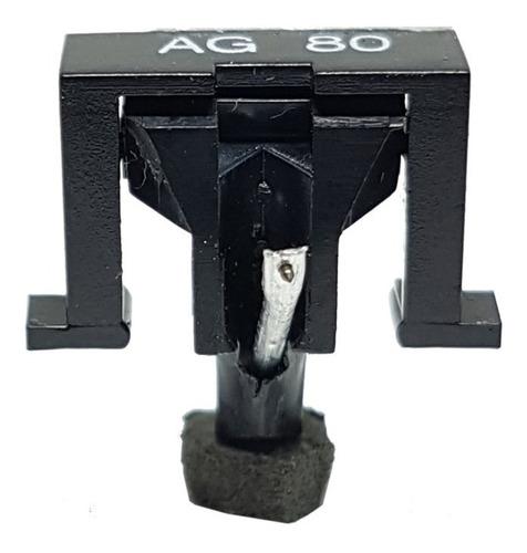 agulha ag-80 diamante cônica preto toca disco leson