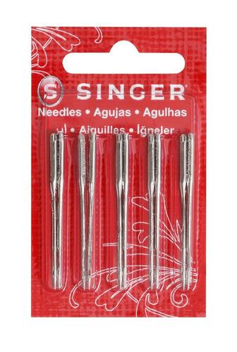 agulha máquina costura singer 90-14 inox brasil com 10 -2020