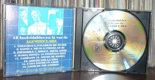 agustin lara cd 15 inolvidables en la voz de agustin lara