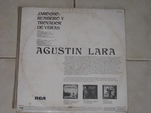 agustin lara jarocho rumbero trovador disco lp acetato vinil