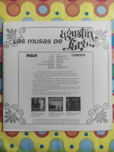 agustín lara lp  las musas de santa  1968