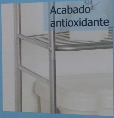 ahorra espacios /3 repisas. sobre sanitario acabado plata