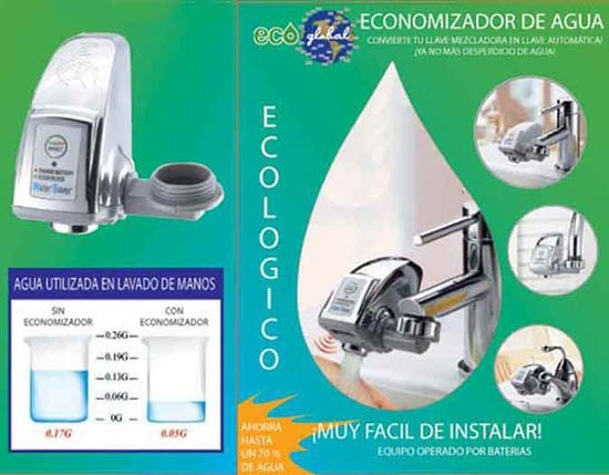 Ahorrador de agua ecoglobal en mercado libre - Ahorrador de agua ...