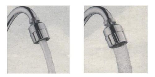 ahorrador de agua para lavamanos, duchas, tinas y cocinas