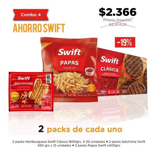 ahorro swift - salchichas papas hamburguesas - pack stockeo