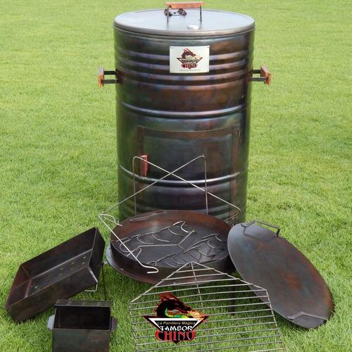 ahumador pipa asador horno parrillera el tambor chino