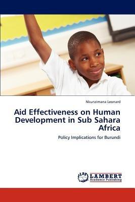 aid effectiveness on human development in sub s envío gratis