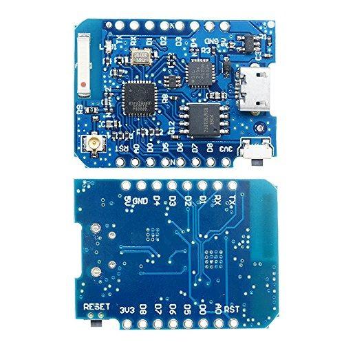 WEMOS D1 ESP8266 WIFI Mini Pro 16M CP2104 Connector Board External Antenna