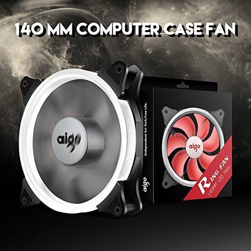 aigo halo ring fan ventilador 140mm case fan quiet edition h