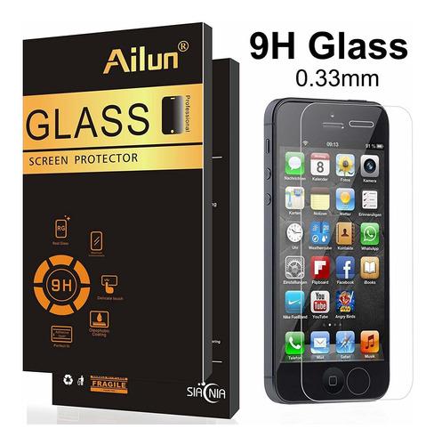 ailun protector de pantalla compatible con iphone 5s iphone