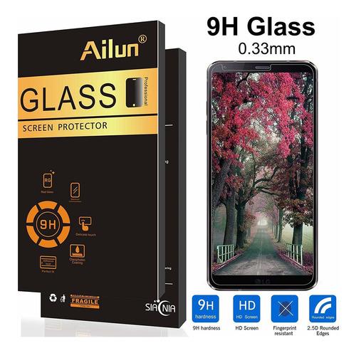 ailun protector de pantalla para lg g6 3 unidades de vidrio