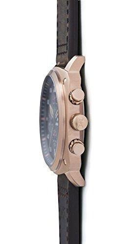 aimant reloj para hombre dakar rose gold con correa de cuero
