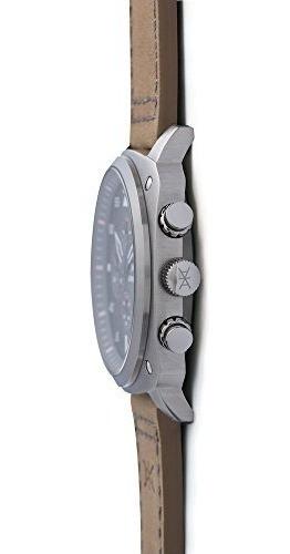 aimant reloj para hombre dakar silver con correa de piel cam
